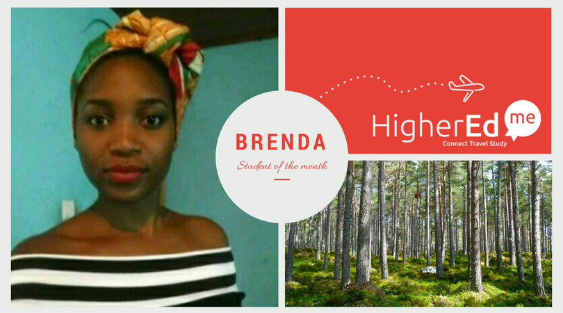 Brenda prospective student of the month